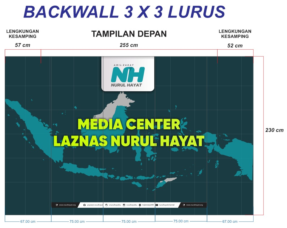 backwall 3x3 lurus