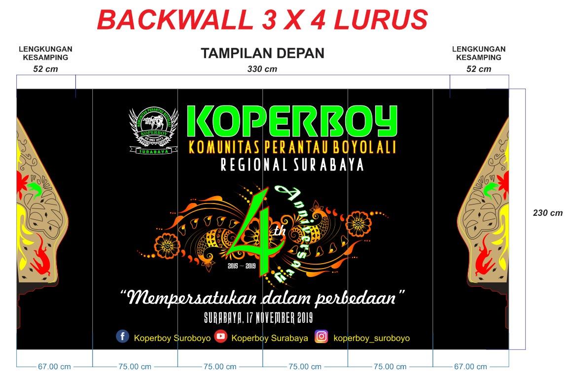 backwall 3x4 lurus