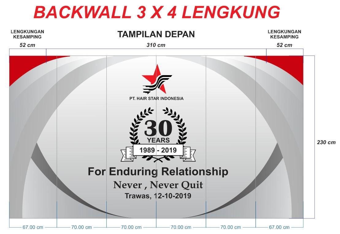 backwall 3x4 lengkung